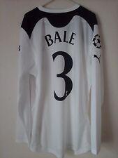 Rare Bale 3 tottenham 2010-11 ucl home football shirt investec long sleeves