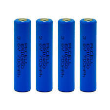 4pcs PKCEL Lithium AAA 3.6V volt Non-Rechargeable batteries 700mAh 10440 10450