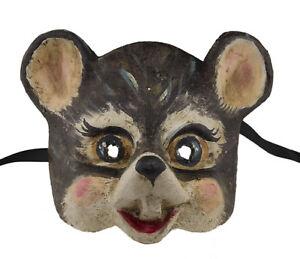 Masque de Venise souris grise en papier mâché Collection Visage enfant 2406
