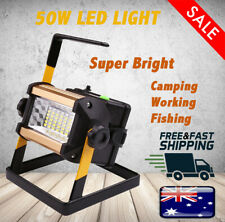 50W Portable Outdoor Rechargeable Work Flash FLOOD Spot Light 36LED Camping Lamp