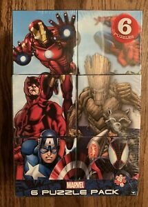 NEW Marvel 6 Pack 48 Piece Jigsaw Puzzles Factory Sealed Ages 6+