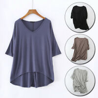Women Blouses T-Shirts Summer Bat Sleeve Pullovers Casual Loose Tops Shirts
