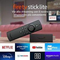 Fire TV Stick Lite con telecomando vocale Alexa Lite senza comandi TV nuovo 2020