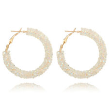 Fashion Women Elegant Hook Earrings Crystal Ear Stud Dangle Hoops Jewelry BLD