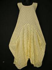 Calf Length Scoop Neck Spotted Sleeveless Dresses for Women