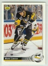 Mario Lemieux 1992-93 Upperdeck  NHL Hockey Cards #26 Penguins