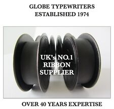 2 x 'OLYMPIA SM4 DELUXE' *BLACK* TOP QUALITY *10 METRE* TYPEWRITER RIBBONS