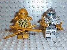 LEGO® Ninjago Figur Zane silber Titan & Lloyd golden Ninja mit Waffen 70748 NEU