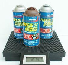 3 Cans Johnsens Freeze 12 Refrigerant R12 Replacement 12 Oz