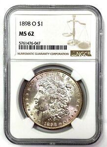 1898-O Morgan Silver Dollar - NGC MS62