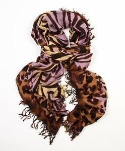 Theodora & Callum Tigris Gypsy Brown Multi scarf