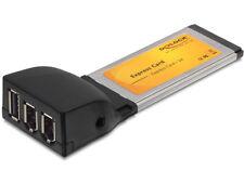 Delock 61389 Adapter PCMCIA-Express Card 34 zu 1x USB 2.0 2x Firewire Converter