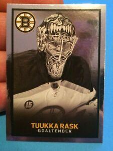 #13 Tuukka Rask FOIL Boston Bruins  2017-18 Panini 17-18 NHL Hockey Sticker