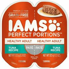 IAMS Perfect Portions Healthy Adult Grain Free Wet Cat Food, Pate 6-Twin Packs