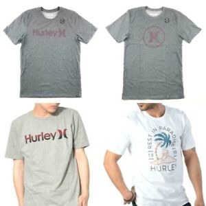 Hurley Men's One Only Athletic Active Surfing Wear T-Shirt Tee Palm Beach White