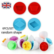 6Pcs Recognize Color Shape Matching Egg Inserted Educational Eggs Toy With Box