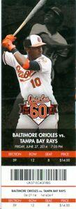 2014 Orioles vs Rays Ticket: Nelson Cruz, James Loney & Nick Hundley HRs