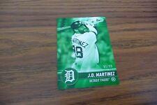J. D. Martinez Tigers 2017 topps Bunt  Green ser. # 85/99 #135 mint