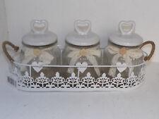 3 recipientes cristal almacenamiento en Receptáculo Barbacoa bombonera con