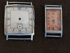 lotto n. 2 casse vintage con quadrante Titus vintage watch spare repair nos