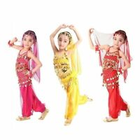 Girls Belly Dance Halloween Costume Kids Bollywood Indian Performance Clothing