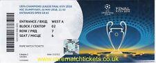 Riproduzione 2018 REAL MADRID Liverpool CHAMPIONS LGE FINALE biglietto personalizzato