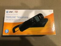 New In Box AT&T(R) TR1909 Corded Trimline Phone with Caller ID (Black)