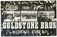 RPPC NY Utica Goldstone Bros Store Bleeker St Multi-View (Beach Photo) Oneida Co