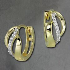 Pendientes de joyería con gemas blancas de oro amarillo no aplicable