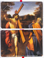 GREECE puzzle of 2 exhibition cards The Crucifixion 1000ex 04/02 mint
