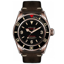 ANCON SEA SHADOW II 41.5mm DIVER WATCH SEA205 NEW IN BOX INTERNATIONAL SHIPPING