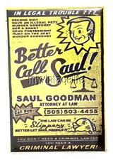 """BETTER CAL SAUL YELLOW PAGES AD Fridge MAGNET  2"""" x 3"""" art BREAKING BAD"""