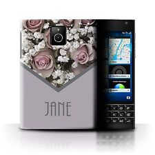 Personalised Custom Floral Case Blackberry Passport/Pink Rose Bouquet/Cover