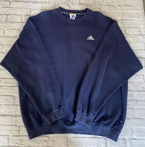 Vintage Adidas 1990's Sweatshirt Jumper Blue Mens Extra Large
