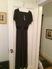 Women's Maxi Dress Charcoal Gray Medium