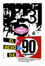 Cuban movie Poster for film The Kiss of 90 SECONDS.Beso rapido.Home Decor Art