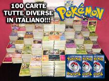 LOTTO 100 POKEMON TUTTI DIVERSI E IN ITALIANO!!! PREZZO STRACCIATO! CARTE CARDS!