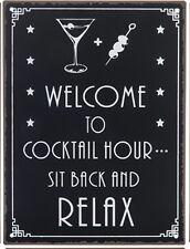 Plaque décorative murale Cocktail relax n°2 cadre en métal