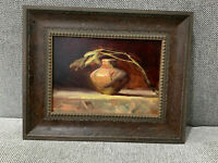 Contemporary Artist Kelli Folsom Signed Oil on Board Painting Little Navajo