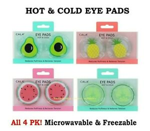 CALA Eye Pads, HOT & COLD EYE PADS, Microwavable & Freezable Eye Pads - 4 PCs!