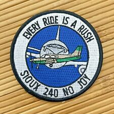 Sioux 240 No Joy Every Ride is a Rush AFROTC ROTC Award Patch Air Force