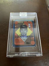 2020 Topps Clearly Authentic MIKE MUSSINA Red/Blue Backs Blue Auto # /25