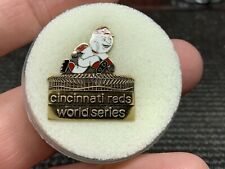 "1970 Cincinnati Reds ""G.B.M. & Co. 1/10 10k Gold"" Rare World Series Press Pin."