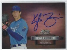 KYLE ZIMMER 2012 Bowman Sterling BLACK REF Refractor AUTO RC /25 Royals