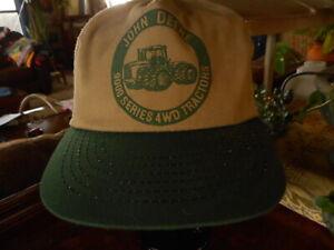 John Deere Tractors 9000 Series 4WD Snap Back Cap Hat Green Farmer