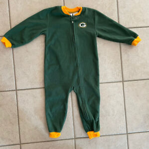 Green Bay Packers - NFL Team Apparel Kids 4T Zippered Sleeper - NICE Cond. 🏈