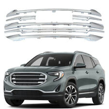 For 2018 2019 GMC Terrain Front Grille CHROME Grill Snap On Cover Overlay-6 Pcs