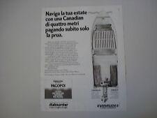 advertising Pubblicità 1983 ITALMARINE CANADIAN 420
