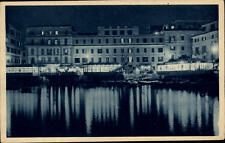 Anzio Italia Cartolina ~1920/30 Riflessi sul Tirreno Häuser bei Nacht Licht Meer