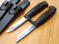 "2 Pc Mora Morakniv Basic 511 8"" Carbon Steel Black Camp Survival Knife Lot 01830"